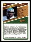 1993 Topps #394  Broderick Thompson  Back Thumbnail