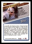1993 Topps #547  David Williams  Back Thumbnail