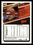 1993 Topps #608  Lee Johnson  Back Thumbnail
