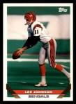 1993 Topps #608  Lee Johnson  Front Thumbnail