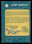 1969 O-Pee-Chee #1  Gump Worsley  Back Thumbnail