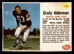 1962 Post #174  Grady Alderman  Front Thumbnail