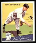 1934 Goudey Reprint #44  Tom Bridges  Front Thumbnail