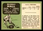 1970 Topps #118  Murray Hall  Back Thumbnail