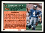 1994 Topps #125  Jason Hanson  Back Thumbnail