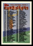 1994 Topps #330   Checklist Card Front Thumbnail