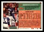 1994 Topps #357  Steve Christie  Back Thumbnail