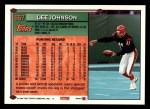 1994 Topps #657  Lee Johnson  Back Thumbnail