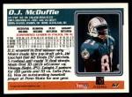 1995 Topps #67  O.J. McDuffie  Back Thumbnail