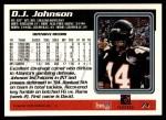 1995 Topps #74  D.J. Johnson  Back Thumbnail