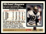 1995 Topps #193  Michael Haynes  Back Thumbnail