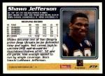 1995 Topps #272  Shawn Jefferson  Back Thumbnail