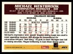 1995 Topps #223  Michael Westbrook  Back Thumbnail