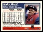 1995 Topps #318  Andre Reed  Back Thumbnail