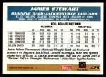 1995 Topps #429  James O. Stewart  Back Thumbnail