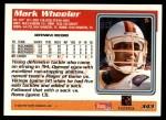 1995 Topps #343  Mark Wheeler  Back Thumbnail