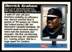 1995 Topps #437  Derrick Graham  Back Thumbnail
