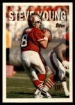 1995 Topps #424  Steve Young  Front Thumbnail