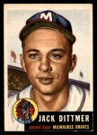 1953 Topps #212  Jack Dittmer  Front Thumbnail