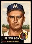 1953 Topps #208  Jimmy Wilson  Front Thumbnail