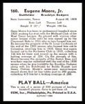 1939 Play Ball Reprint #160  Gene Moore  Back Thumbnail