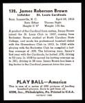1939 Play Ball Reprint #132  Jim Brown  Back Thumbnail