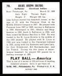 1939 Play Ball Reprint #78  Julius Solters  Back Thumbnail