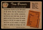 1955 Bowman #178  Tom Brewer  Back Thumbnail