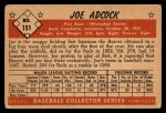 1953 Bowman #151  Joe Adcock  Back Thumbnail
