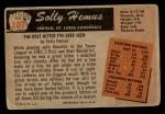 1955 Bowman #107  Solly Hemus  Back Thumbnail