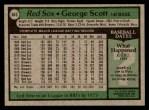 1979 Topps #645  George Scott  Back Thumbnail