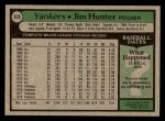 1979 Topps #670  Catfish Hunter  Back Thumbnail