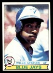 1979 Topps #341  Willie Upshaw  Front Thumbnail
