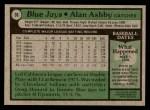 1979 Topps #36  Alan Ashby  Back Thumbnail