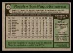 1979 Topps #476  Tom Poquette  Back Thumbnail