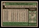 1979 Topps #410  Darrell Evans  Back Thumbnail