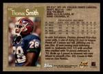 1996 Topps #107  Thomas Smith  Back Thumbnail