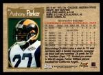 1996 Topps #46  Anthony Parker  Back Thumbnail