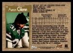 1996 Topps #56  Aaron Glenn  Back Thumbnail