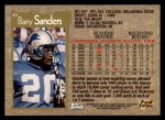 1996 Topps #40  Barry Sanders  Back Thumbnail