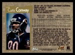 1996 Topps #139  Curtis Conway  Back Thumbnail