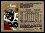 1996 Topps #88  Brad Baxter  Back Thumbnail