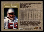 1996 Topps #311  Vincent Brown  Back Thumbnail