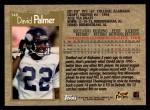 1996 Topps #348  David Palmer  Back Thumbnail