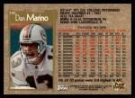 1996 Topps #390  Dan Marino  Back Thumbnail