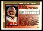 1997 Topps #118  Derrick Brooks  Back Thumbnail