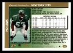 1997 Topps #377  Mo Lewis  Back Thumbnail