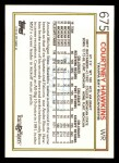 1992 Topps #675  Courtney Hawkins  Back Thumbnail