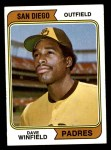 1974 Topps #456  Dave Winfield  Front Thumbnail