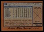 1978 Topps #341  Mike Flanagan  Back Thumbnail